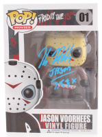 "Kane Hodder Signed Jason Voorhees #01 Funko Pop! Vinyl Figure Inscribed ""Jason 7, 8, 9, X"" (PSA COA) at PristineAuction.com"