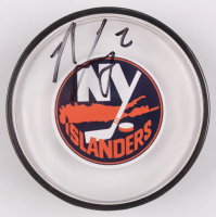 Nick Leddy Signed Islanders Logo Hockey Puck (Your Sports Memorabilia Store COA) at PristineAuction.com