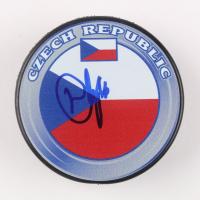 David Krejci Signed Czech Repubic Logo Hockey Puck (JSA COA) at PristineAuction.com