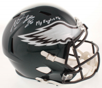 """Miles Sanders Signed Eagles Full-Size Speed Helmet Inscribed """"Fly Eagles Fly"""" (Beckett COA) at PristineAuction.com"""