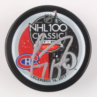 Carey Price Signed 2017 NHL 100 Classic Logo Hockey Puck (JSA COA) at PristineAuction.com
