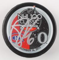 Shea Weber Signed 2017 NHL 100 Classic Logo Hockey Puck (JSA COA) at PristineAuction.com