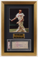Ted Williams Signed Red Sox 14x21 Custom Framed Check Display (PSA Encapsulated) at PristineAuction.com