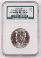1964 Kennedy Half Dollar (Unicirculated Type Set) at PristineAuction.com