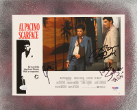 "Al Pacino, Steven Bauer & Angel Salazar Signed ""Scarface"" 11x13.5 Custom Matted Photo Inscribed ""Manny"" & ""Chi Chi"" (JSA COA & PSA COA) at PristineAuction.com"