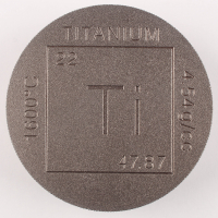 One Pound .999  Fine Titanium Element Design Bullion Round at PristineAuction.com