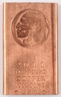 2011 1/2 Half-Pound .999 Fine Copper Indian Head Bullion Bar at PristineAuction.com