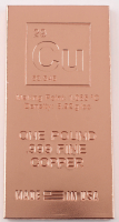 "One Pound .999 Fine Copper ""Periodic Table"" Bullion Bar at PristineAuction.com"