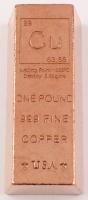 """One Pound .999 Fine Copper """"Periodic Table"""" Bullion Bar at PristineAuction.com"""