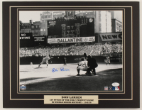 """Don Larsen Signed Yankees """"World Series Perfect Game"""" 14x18 Custom Matted Photo Display (JSA COA) at PristineAuction.com"""