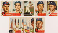 Lot of (14) 1953 Topps Baseball Cards with #270 Vern Stephens, #80 Jim Hegan, #243 Carlos Bernier, #229 Rocky Krsnich, #242 Charlie Silvera at PristineAuction.com