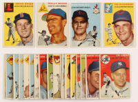 Lot of (22) 1954 Topps Baseball Cards with #7 Ted Kluszewski, #80 Jackie Jensen, #137 Wally Moon, #85 Bob Turley at PristineAuction.com