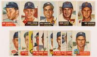 Lot of (17) 1953 Topps Baseball Cards with #87 Ed Lopat, #176 Don Hoak, #111 Hank Sauer, #214 Bill Bruton, #260 Sam Calderone at PristineAuction.com