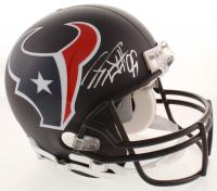 J.J. Watt Signed Texans Full-Size Authentic On-Field Black Matte Helmet (JSA COA) at PristineAuction.com