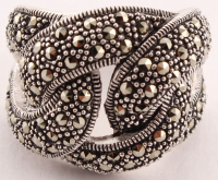 Sterling Silver Marcasite Knot Ring - SZ 8 at PristineAuction.com