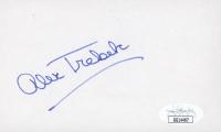 Alex Trebek Signed 3x5 Index Card (JSA COA) at PristineAuction.com
