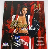 Oscar De La Hoya Signed M Lifestyle Magazine (PSA COA) at PristineAuction.com