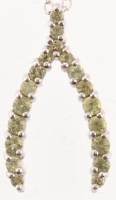 Sterling Silver Peridot Wishbone Pendant at PristineAuction.com