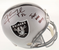 "Khalil Mack Signed Raiders Full-Size Helmet Inscribed ""Just Win Baby"" (JSA COA) at PristineAuction.com"