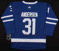 Frederik Andersen Signed Maple Leafs Jersey (PSA COA) at PristineAuction.com