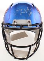 J.J. Watt Signed Texans Full-Size Chrome Speed Helmet (JSA COA & Watt Hologram) at PristineAuction.com