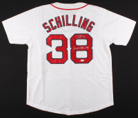 """Curt Schilling Signed Jersey Inscribed """"Reverse The Curse"""" (JSA COA) at PristineAuction.com"""