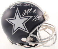 """Emmitt Smith, Troy Aikman & Michael """"Playmaker"""" Irvin Signed Cowboys Full-Size Authentic On-Field Helmet (Beckett COA & Prova COA) at PristineAuction.com"""