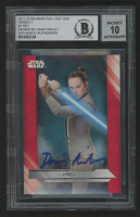 Daisy Ridley Signed 2017 Star Wars The Last Jedi Series One #1 Rey (BGS Encapsulated) at PristineAuction.com
