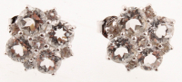 Silver 5.15ct White Topaz Flower Stud Earrings at PristineAuction.com