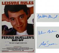 "Matthew Broderick, Mia Sara & Alan Ruck Cast-Signed ""Ferris Bueller's Day Off"" 27x40 Poster (Schwartz COA) at PristineAuction.com"