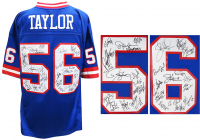Giants Super Bowl XXI & XXV Champions Jersey Team-Signed by (29) with Phil Simms, Lawrence Taylor, Jeff Hostetler (Schwartz COA) at PristineAuction.com