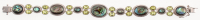 """Sterling Silver Abalone & Peridot Bracelet 7.5"""" at PristineAuction.com"""