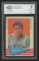 Babe Ruth 1961 Fleer #75 (BCCG 7) at PristineAuction.com