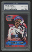 Dale Earnhardt Sr. Signed 1996 Crown Jewels Elite Treasure Chest #1 (PSA Encapsulated) at PristineAuction.com