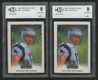 Lot of (2) BCCG Graded 9 Tom Brady 2002 Gridiron Kings #55 Football Cards at PristineAuction.com