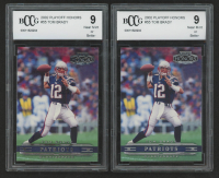 Lot of (2) BCCG Graded 9 Tom Brady 2002 Playoff Honors #55 Football Cards at PristineAuction.com