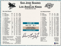 """Wayne Gretzky Signed Kings """"NHL Record 801st Goal"""" 8.75x11 Print With Authentic Game Ticket Stub (Beckett LOA) at PristineAuction.com"""