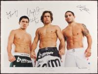"Joseph Benavidez, Urijah Faber & Chad Mendes Signed ""Team Alpha Male"" 23x30.5 AP UFC Fine Art Giclee by Iconic Sports Photographer Eric Williams (PA LOA & JSA COA) at PristineAuction.com"