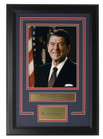 Ronald Reagan 14x18 Custom Framed Photo Display at PristineAuction.com
