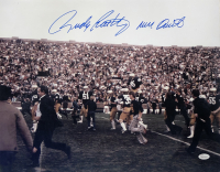 """Rudy Ruettiger Signed Notre Dame Fighting Irish 16x20 Photo Inscribed """"Never Quit"""" (JSA COA) at PristineAuction.com"""