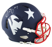 Sony Michel Signed Patriots Full-Size Authentic On-Field AMP Alternate Speed Helmet (Radtke COA) at PristineAuction.com