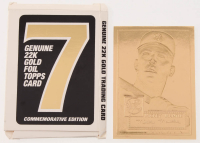 Vintage 1952 Topps Mickey Mantle 23 KT Gold Rookie Card at PristineAuction.com