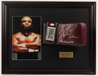 Mike Tyson Signed 17.5x22.5 Custom Framed Boxing Glove (JSA COA) at PristineAuction.com
