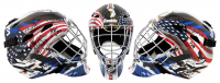 """1980 Team USA """"Miracle On Ice"""" Full-Size Goalie Mask Team-Signed by (18) with Jim Craig, Mike Eruzione, Ken Morrow, Mark Wells (Schwartz COA) at PristineAuction.com"""