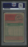 """Nolan Ryan Signed 1975 Topps #500 Inscribed """"100.9 MPH Fastball"""" (PSA Encapsulated) at PristineAuction.com"""