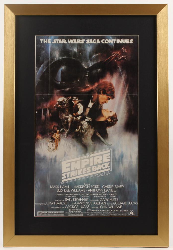 """Star Wars: Episode V – The Empire Strikes Back"" 17x25 Custom Framed Movie Poster Print Display at PristineAuction.com"