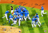 2016 Cubs World Series Champions 16x20 Photo Team-Signed by (24) with Theo Epstein, Addison Russell, Kyle Schwarber, Willson Contreras (Schwartz COA) at PristineAuction.com