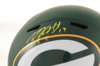 Davante Adams Signed Packers Full-Size AMP Alternate Speed Helmet (JSA COA) at PristineAuction.com