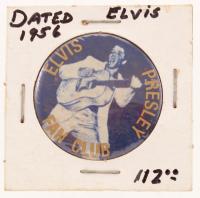 Vintage 1956 Elvis Presley Fan Club Pin at PristineAuction.com