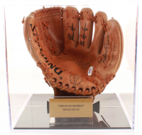 """Nolan Ryan Signed Vintage Spalding Baseball Glove Inscribed """"The Ryan Express"""" with Display Case (PSA COA) at PristineAuction.com"""